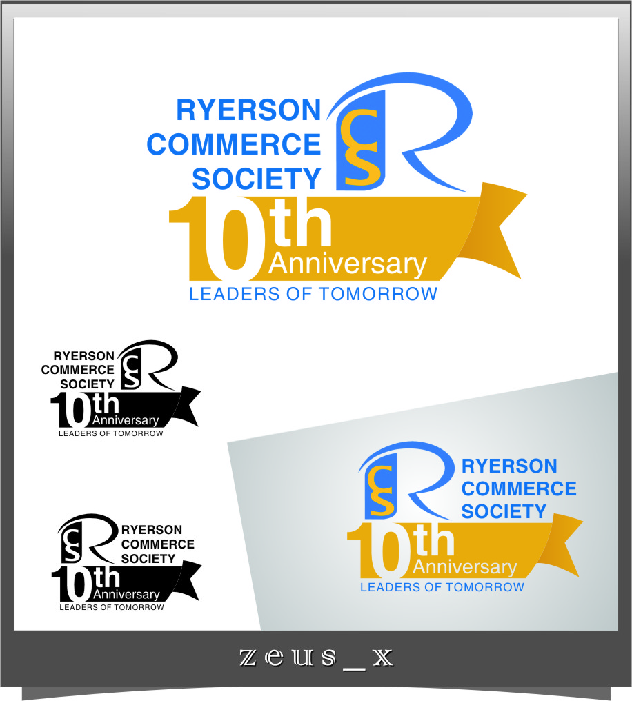 Logo Design by RasYa Muhammad Athaya - Entry No. 20 in the Logo Design Contest 10 Year Anniversary Logo Design for the Ryerson Commerce Society.