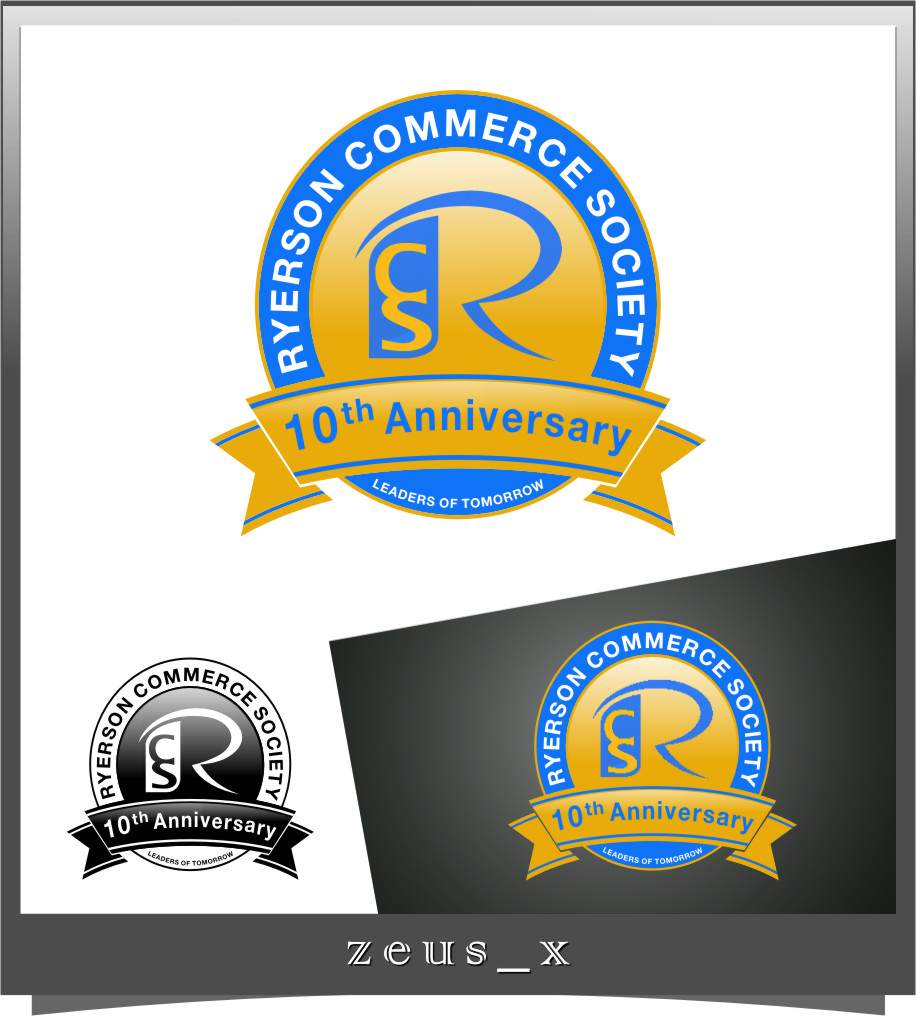 Logo Design by RoSyid Rono-Rene On Java - Entry No. 22 in the Logo Design Contest 10 Year Anniversary Logo Design for the Ryerson Commerce Society.
