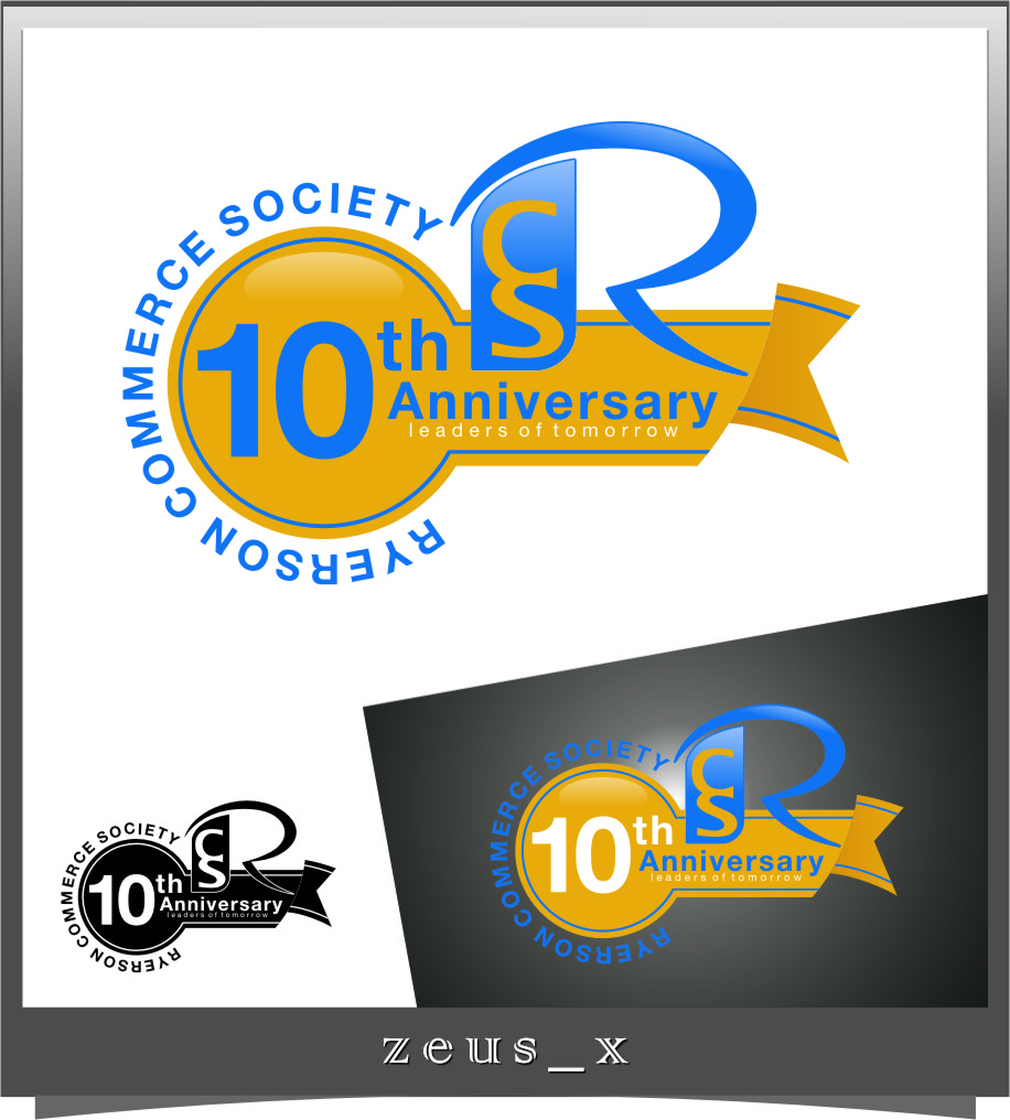 Logo Design by Ngepet_art - Entry No. 23 in the Logo Design Contest 10 Year Anniversary Logo Design for the Ryerson Commerce Society.