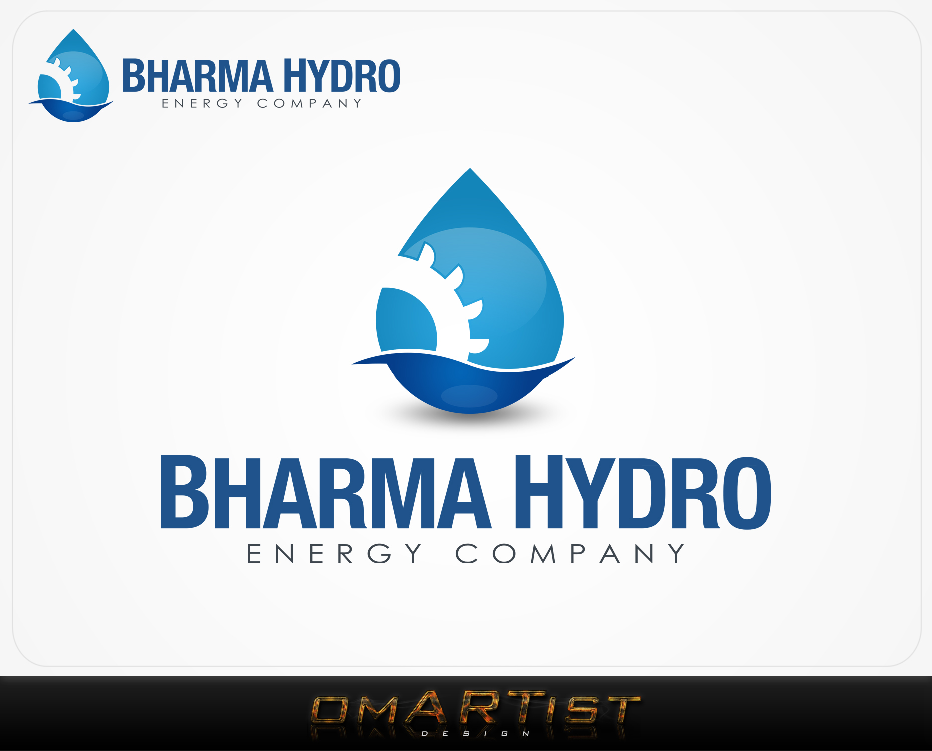 Logo Design by omARTist - Entry No. 53 in the Logo Design Contest Creative Logo Design for Bharma Hydro.
