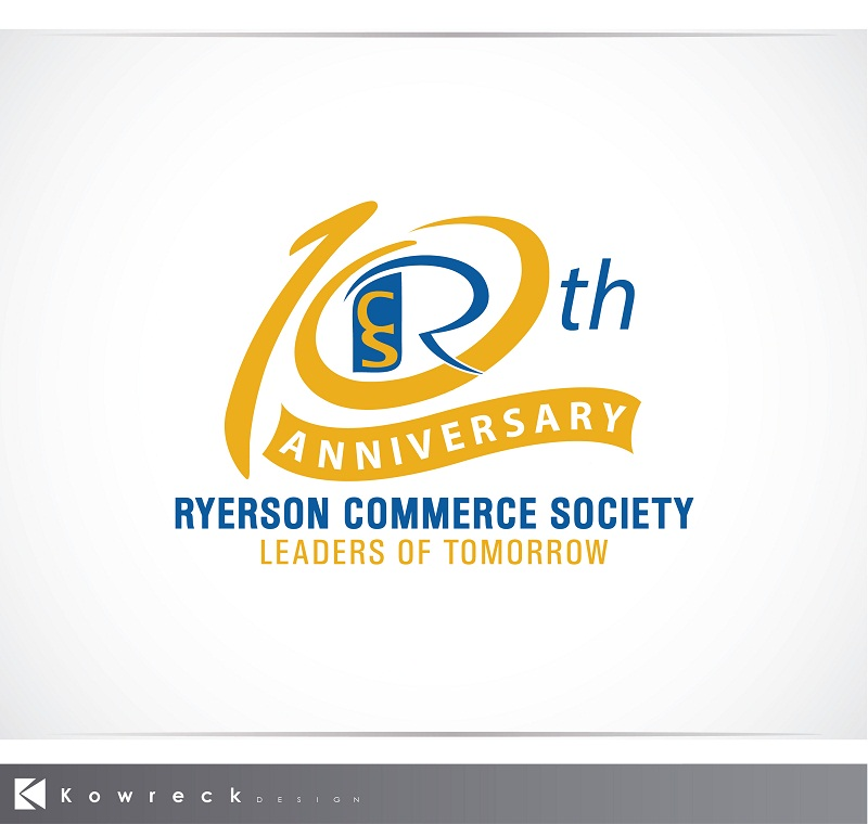 Logo Design by kowreck - Entry No. 27 in the Logo Design Contest 10 Year Anniversary Logo Design for the Ryerson Commerce Society.