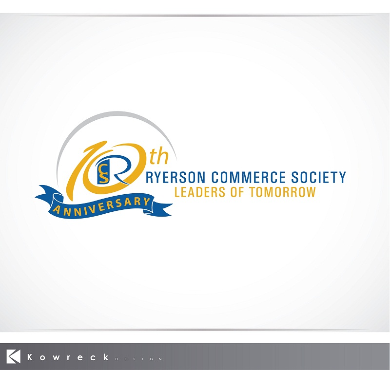 Logo Design by kowreck - Entry No. 32 in the Logo Design Contest 10 Year Anniversary Logo Design for the Ryerson Commerce Society.