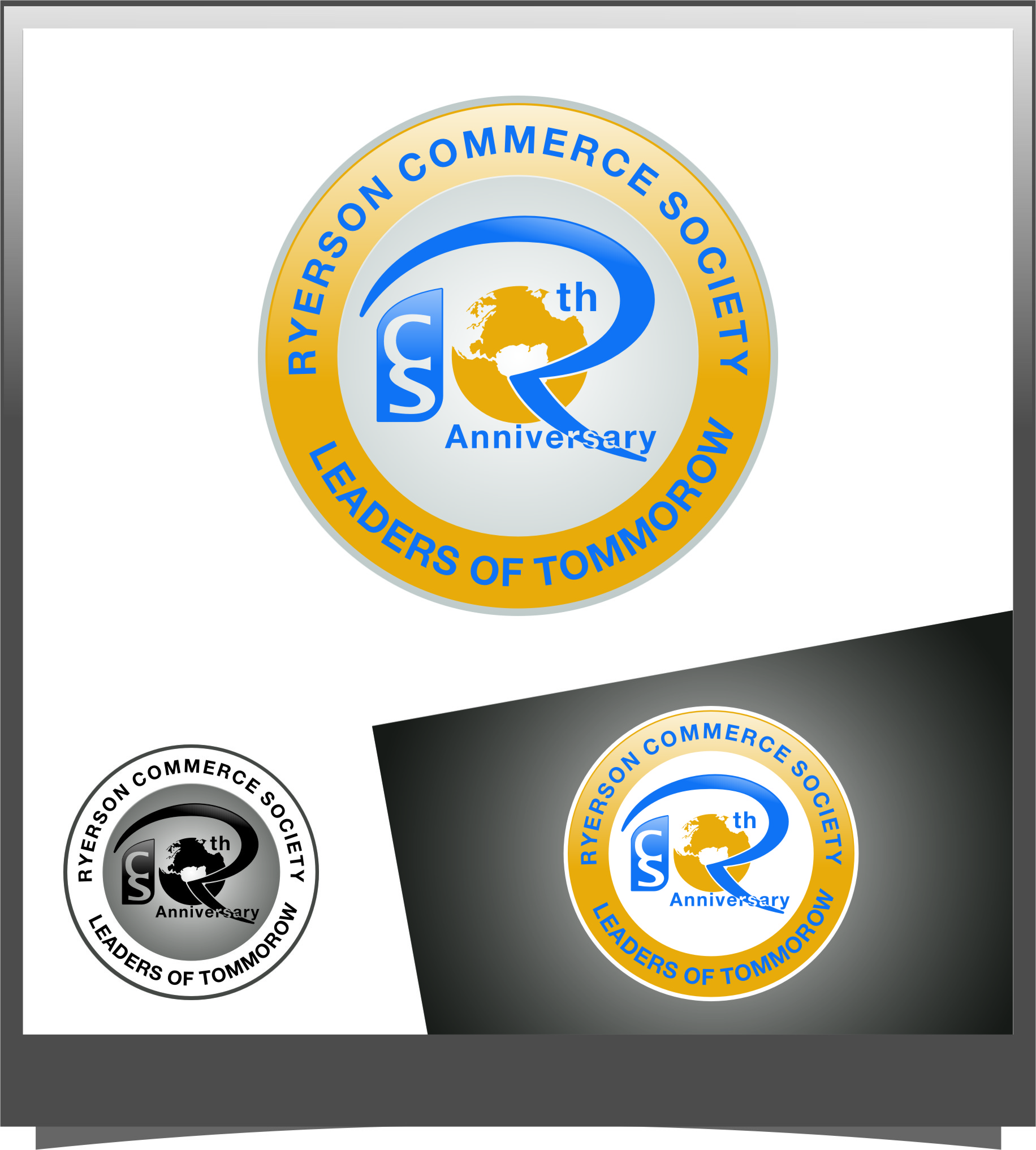 Logo Design by RasYa Muhammad Athaya - Entry No. 33 in the Logo Design Contest 10 Year Anniversary Logo Design for the Ryerson Commerce Society.