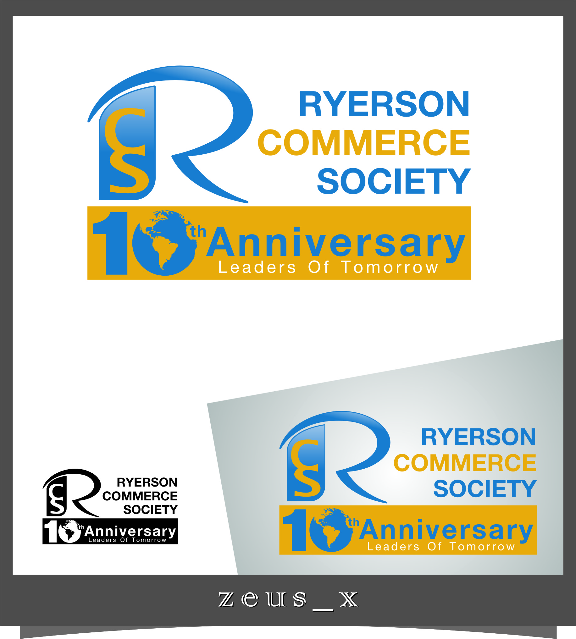 Logo Design by RasYa Muhammad Athaya - Entry No. 38 in the Logo Design Contest 10 Year Anniversary Logo Design for the Ryerson Commerce Society.