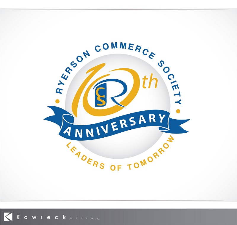 Logo Design by kowreck - Entry No. 42 in the Logo Design Contest 10 Year Anniversary Logo Design for the Ryerson Commerce Society.