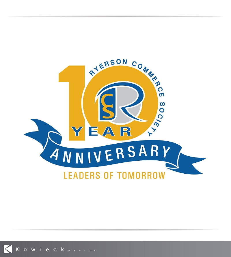 Logo Design by kowreck - Entry No. 44 in the Logo Design Contest 10 Year Anniversary Logo Design for the Ryerson Commerce Society.