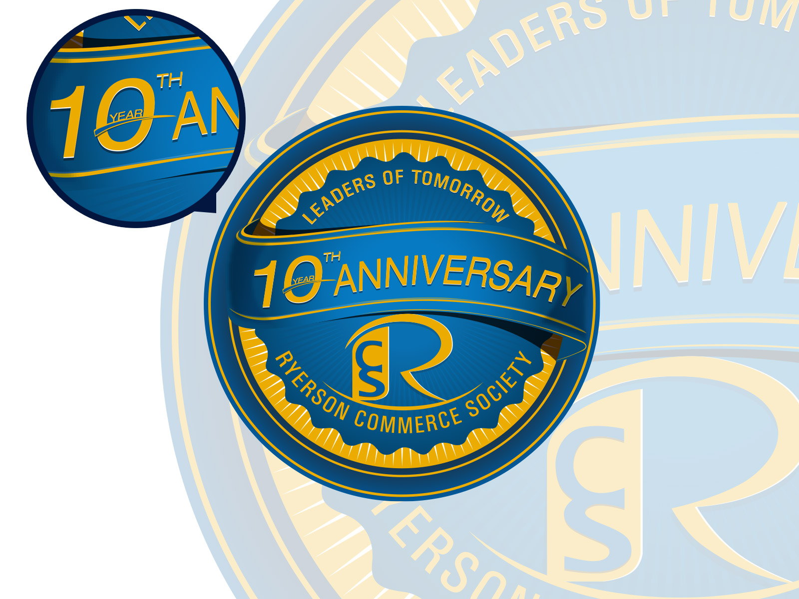 Logo Design by olii - Entry No. 48 in the Logo Design Contest 10 Year Anniversary Logo Design for the Ryerson Commerce Society.