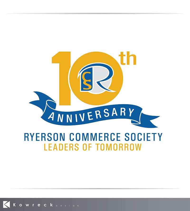 Logo Design by kowreck - Entry No. 49 in the Logo Design Contest 10 Year Anniversary Logo Design for the Ryerson Commerce Society.