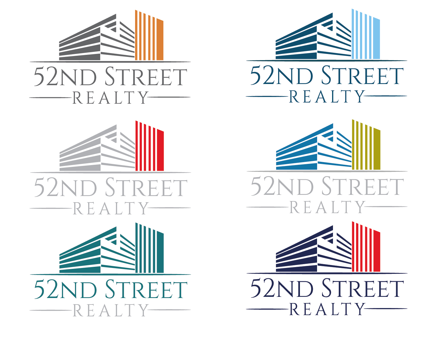 Logo Design by VENTSISLAV KOVACHEV - Entry No. 98 in the Logo Design Contest 52nd Street Realty Logo Design.
