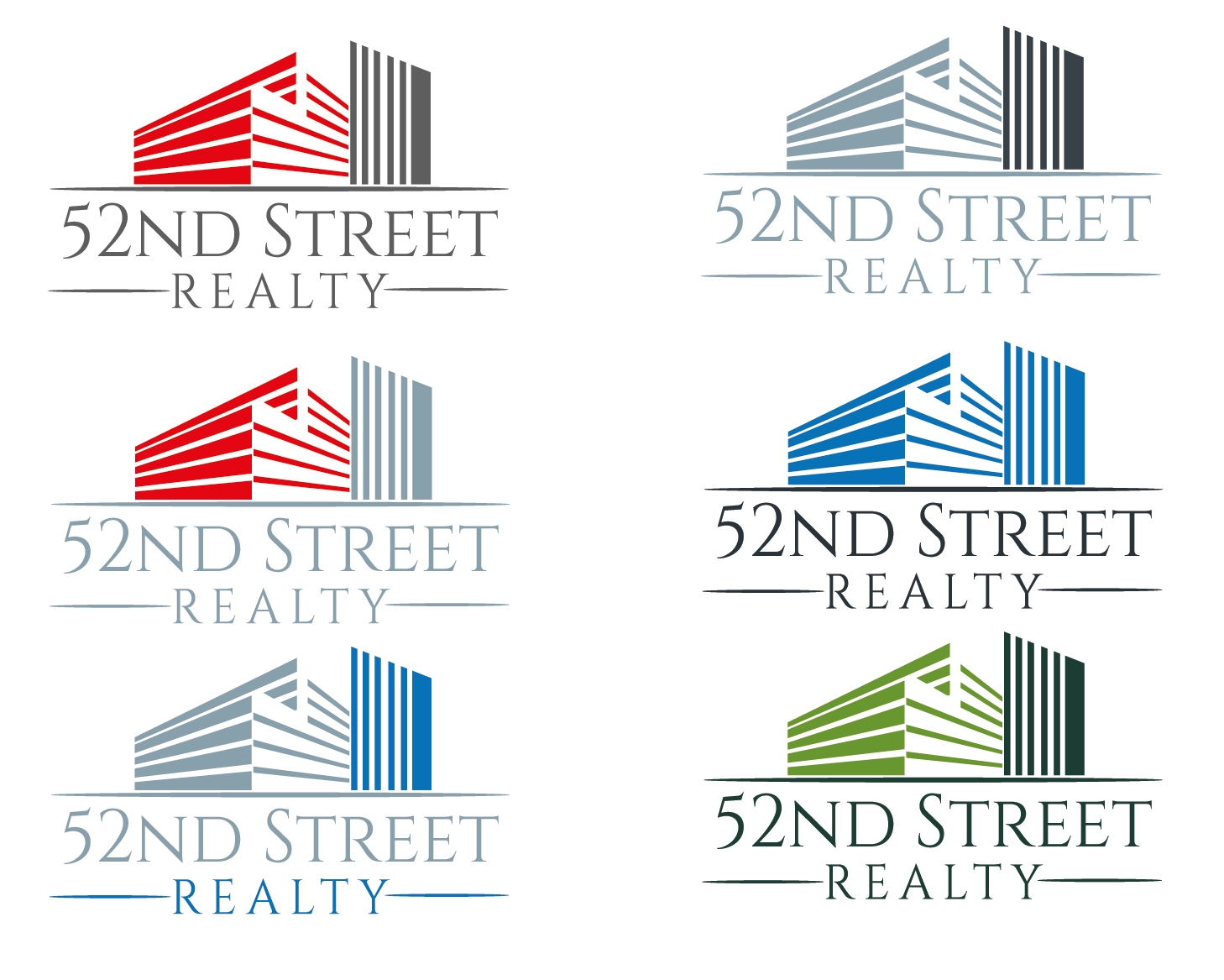 Logo Design by VENTSISLAV KOVACHEV - Entry No. 99 in the Logo Design Contest 52nd Street Realty Logo Design.