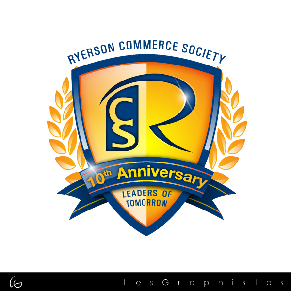 Logo Design by Les-Graphistes - Entry No. 58 in the Logo Design Contest 10 Year Anniversary Logo Design for the Ryerson Commerce Society.