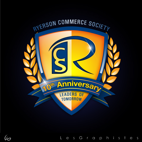 Logo Design by Les-Graphistes - Entry No. 59 in the Logo Design Contest 10 Year Anniversary Logo Design for the Ryerson Commerce Society.