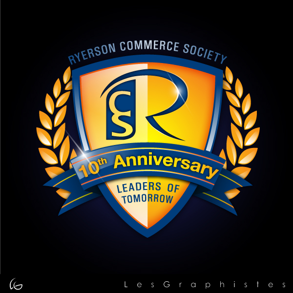 Logo Design by Les-Graphistes - Entry No. 60 in the Logo Design Contest 10 Year Anniversary Logo Design for the Ryerson Commerce Society.