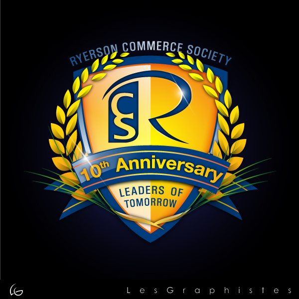 Logo Design by Les-Graphistes - Entry No. 61 in the Logo Design Contest 10 Year Anniversary Logo Design for the Ryerson Commerce Society.