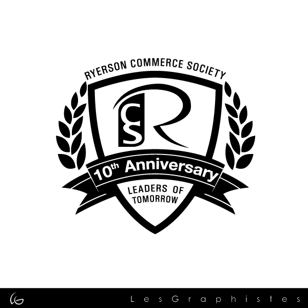 Logo Design by Les-Graphistes - Entry No. 62 in the Logo Design Contest 10 Year Anniversary Logo Design for the Ryerson Commerce Society.