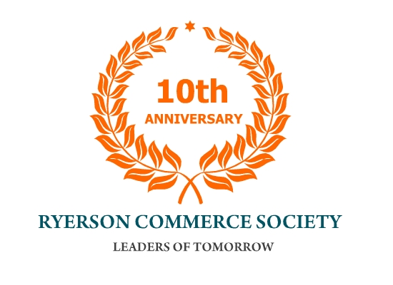 Logo Design by Tathastu Sharma - Entry No. 64 in the Logo Design Contest 10 Year Anniversary Logo Design for the Ryerson Commerce Society.