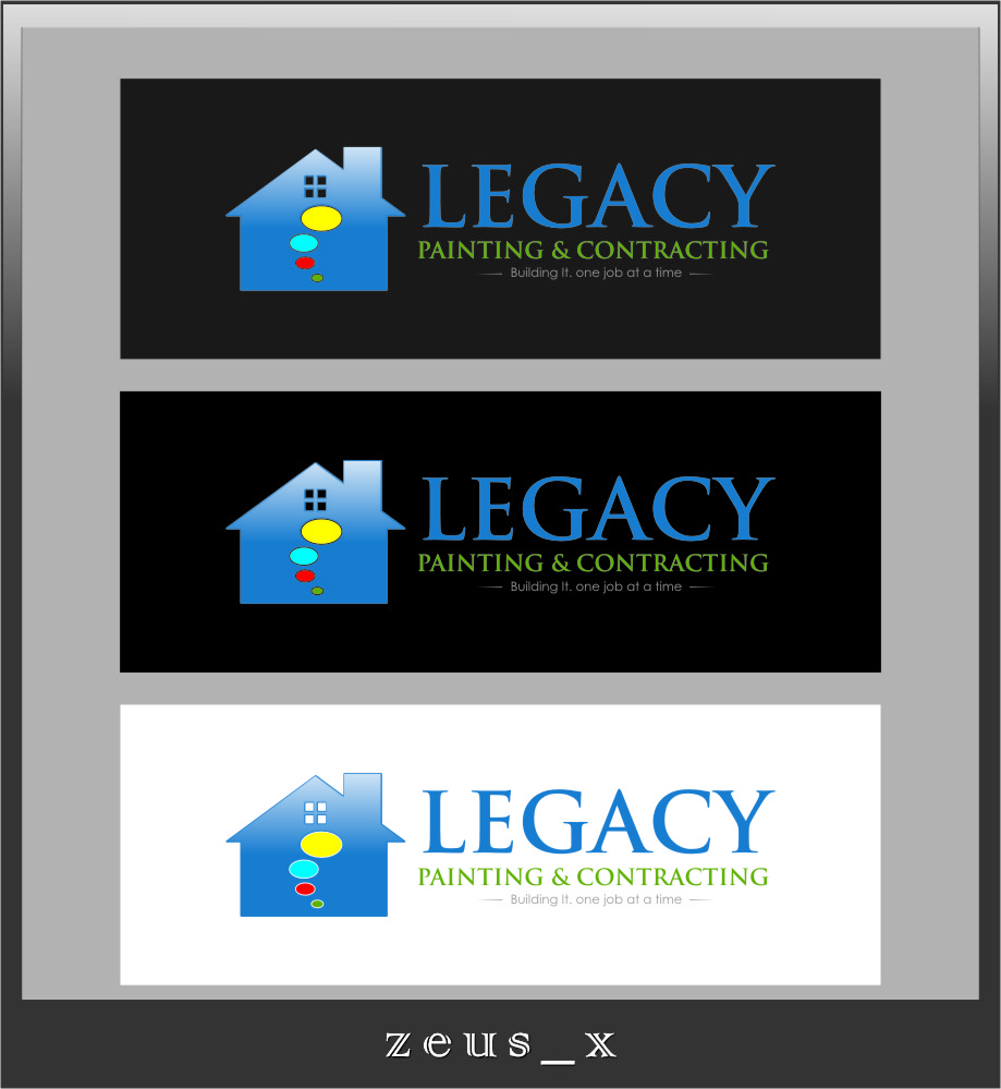 Logo Design by RoSyid Rono-Rene On Java - Entry No. 32 in the Logo Design Contest Logo Design for Legacy Painting & Contracting LLC.