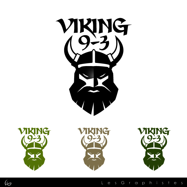 Logo Design by Les-Graphistes - Entry No. 22 in the Logo Design Contest Logo Design for Viking 9-3 MilSim Unit.