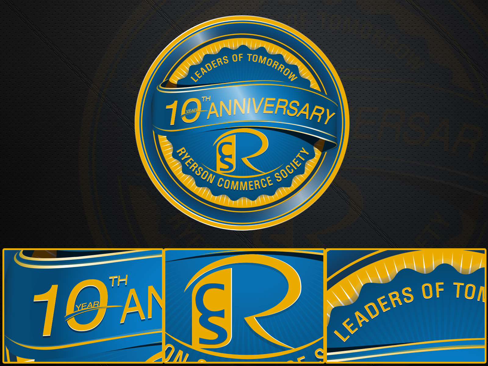 Logo Design by olii - Entry No. 66 in the Logo Design Contest 10 Year Anniversary Logo Design for the Ryerson Commerce Society.