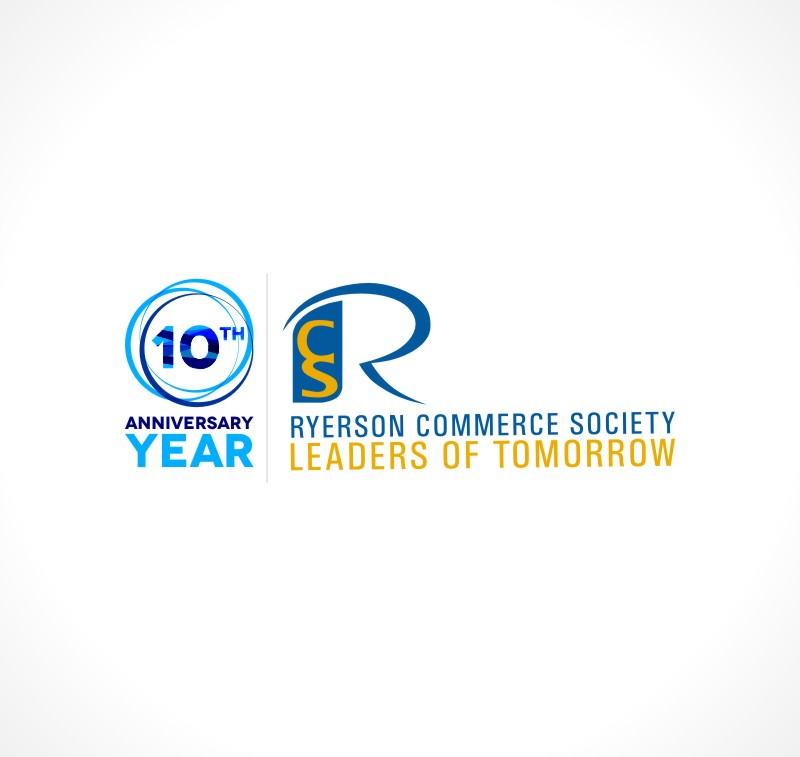 Logo Design by Private User - Entry No. 71 in the Logo Design Contest 10 Year Anniversary Logo Design for the Ryerson Commerce Society.