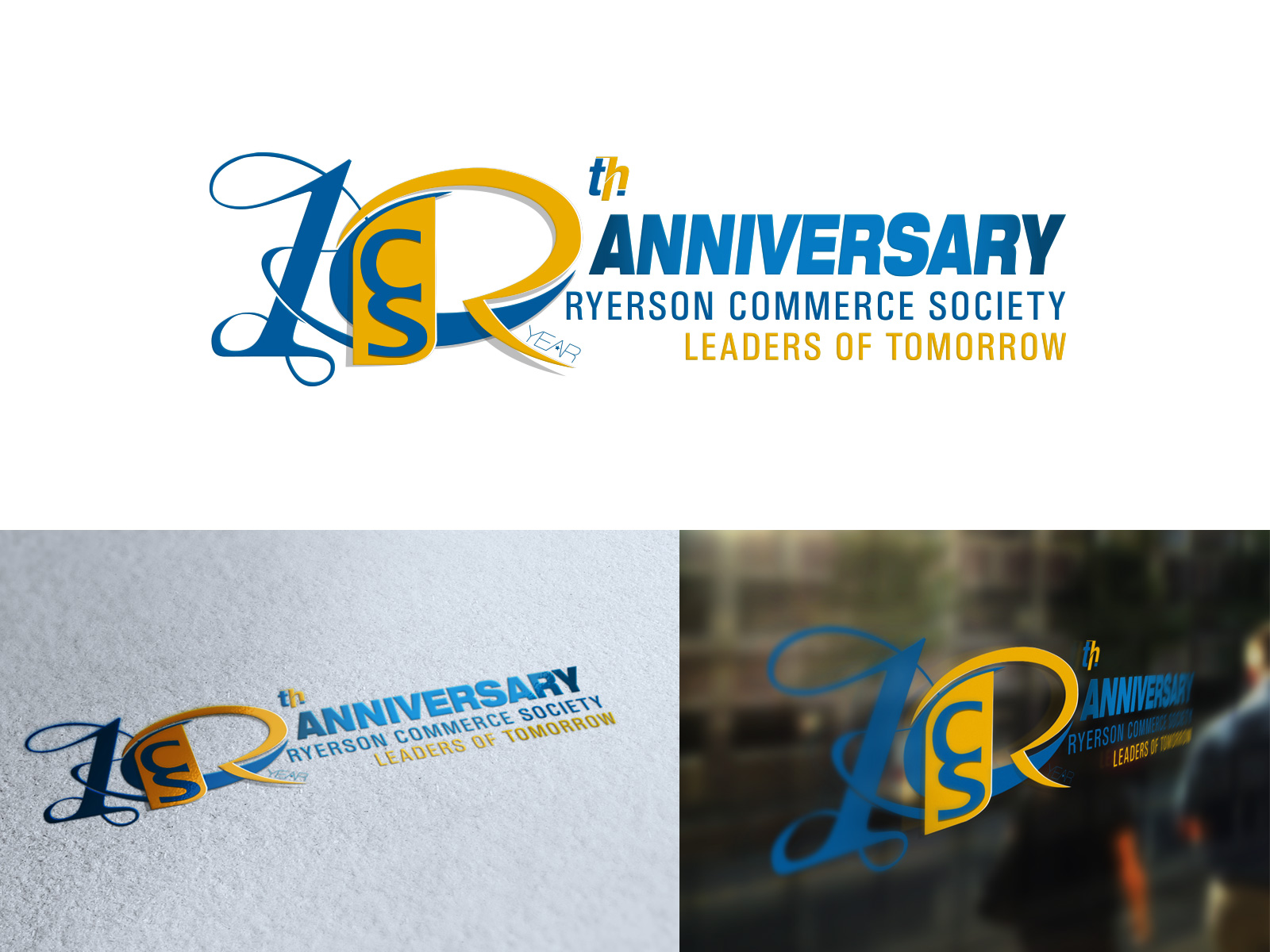 Logo Design by olii - Entry No. 80 in the Logo Design Contest 10 Year Anniversary Logo Design for the Ryerson Commerce Society.