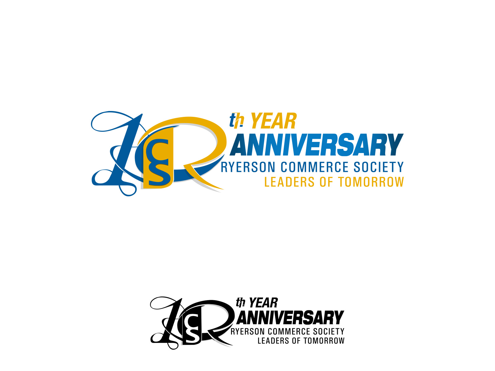 Logo Design by olii - Entry No. 81 in the Logo Design Contest 10 Year Anniversary Logo Design for the Ryerson Commerce Society.