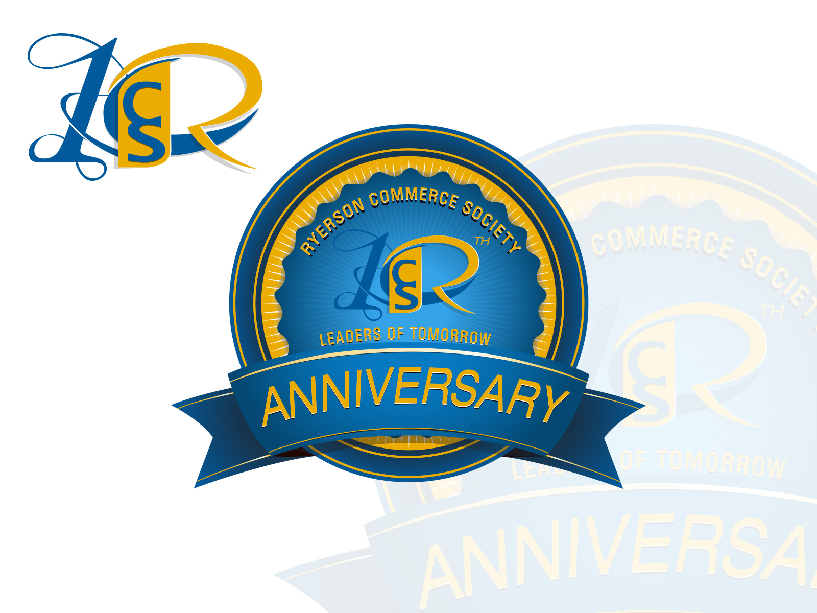Logo Design by olii - Entry No. 82 in the Logo Design Contest 10 Year Anniversary Logo Design for the Ryerson Commerce Society.