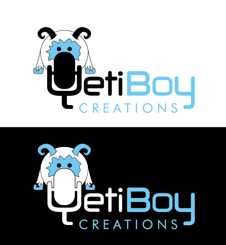Logo Design by Christina Evans - Entry No. 3 in the Logo Design Contest Captivating Logo Design for Yeti Boy Creations.