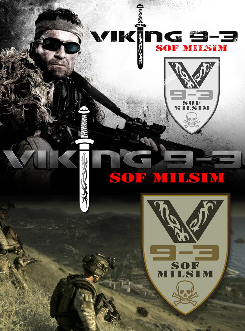 Logo Design by Robert Turla - Entry No. 36 in the Logo Design Contest Logo Design for Viking 9-3 MilSim Unit.