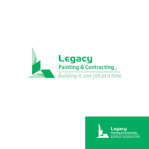 Logo Design by Ryan_Taufik - Entry No. 44 in the Logo Design Contest Logo Design for Legacy Painting & Contracting LLC.