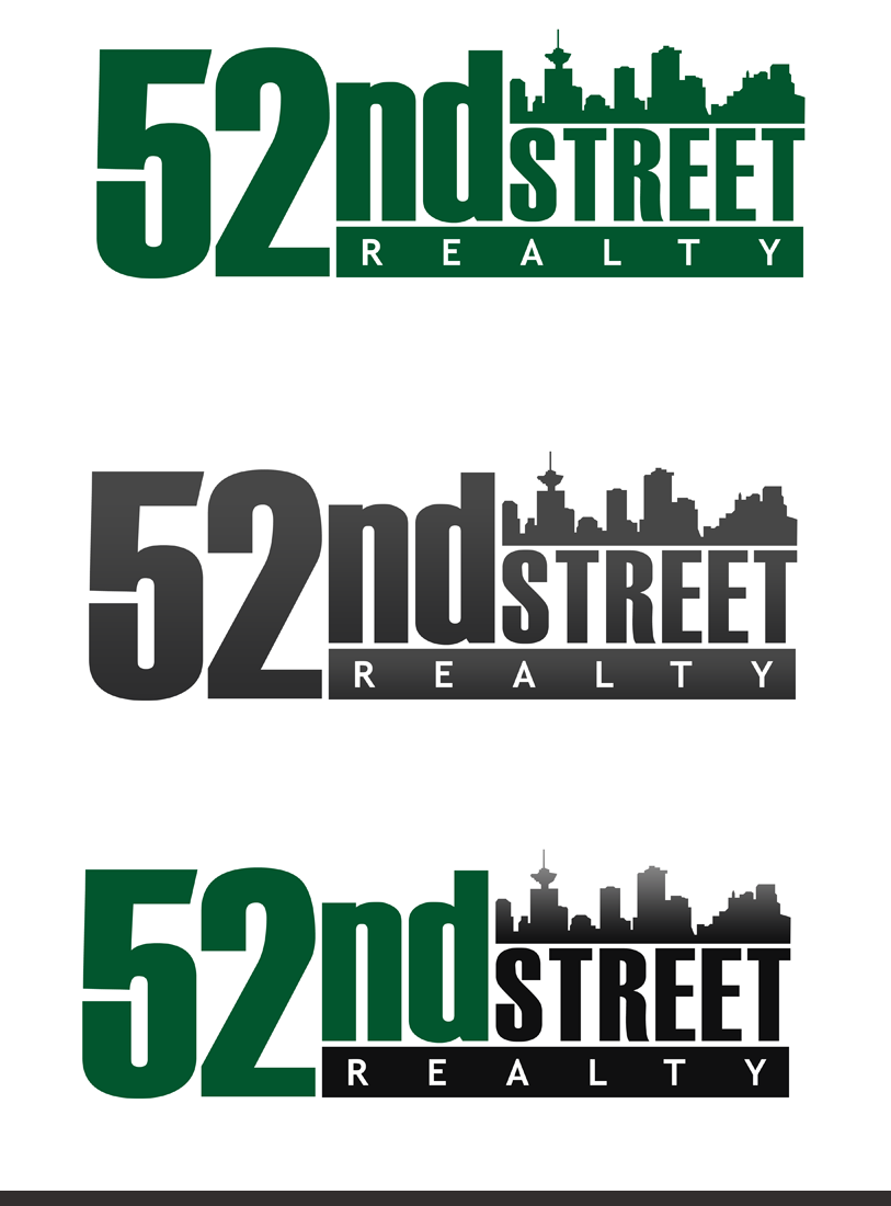 Logo Design by Private User - Entry No. 111 in the Logo Design Contest 52nd Street Realty Logo Design.