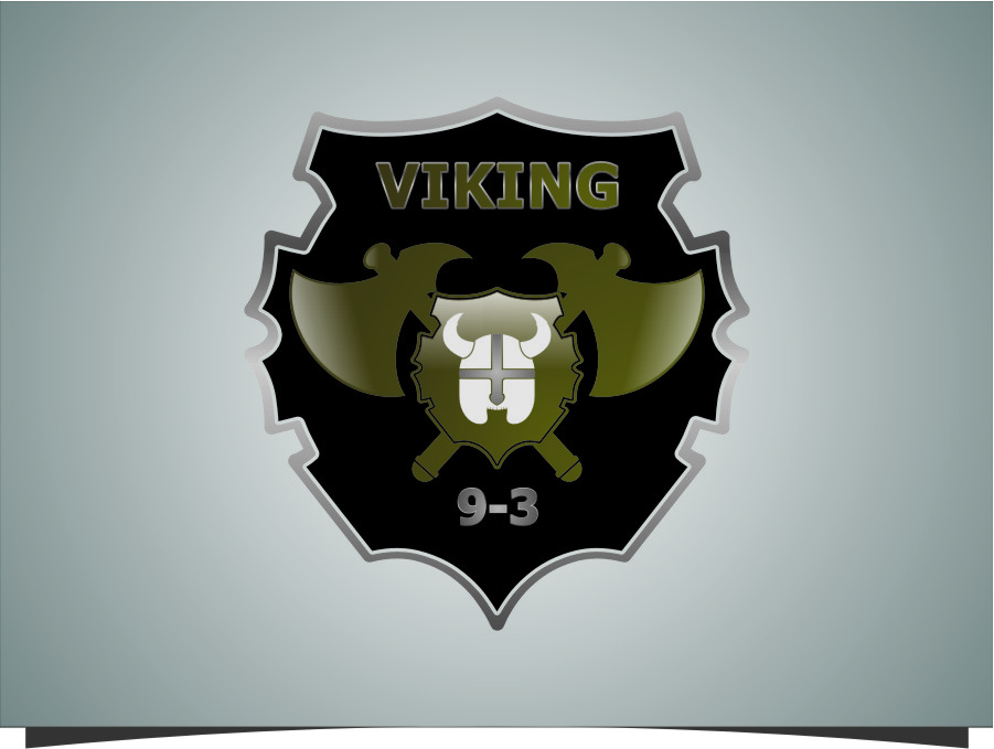 Logo Design by RasYa Muhammad Athaya - Entry No. 38 in the Logo Design Contest Logo Design for Viking 9-3 MilSim Unit.