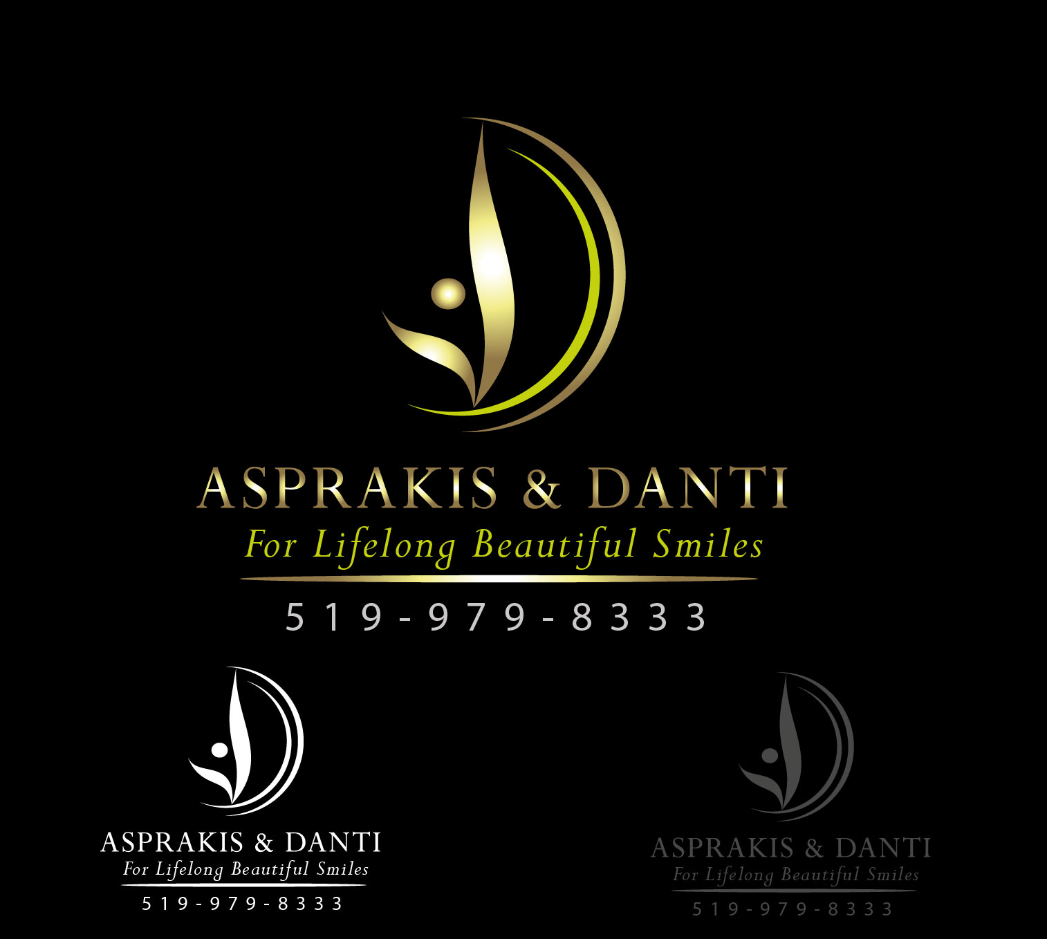 Logo Design by Darina Dimitrova - Entry No. 15 in the Logo Design Contest Unique Logo Design Wanted for Asprakis and Danti.