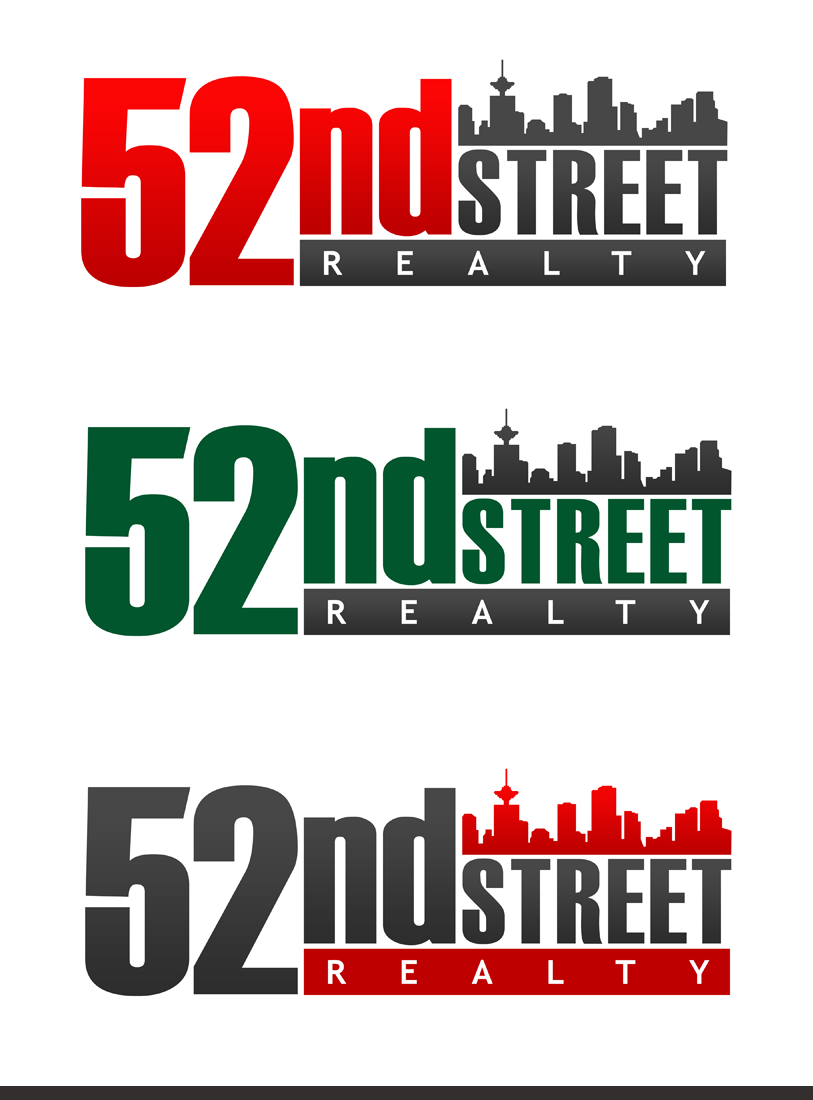 Logo Design by Private User - Entry No. 112 in the Logo Design Contest 52nd Street Realty Logo Design.