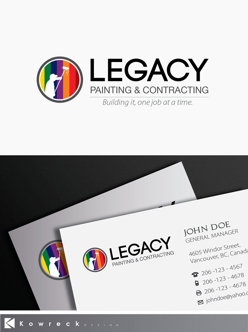 Logo Design by kowreck - Entry No. 51 in the Logo Design Contest Logo Design for Legacy Painting & Contracting LLC.
