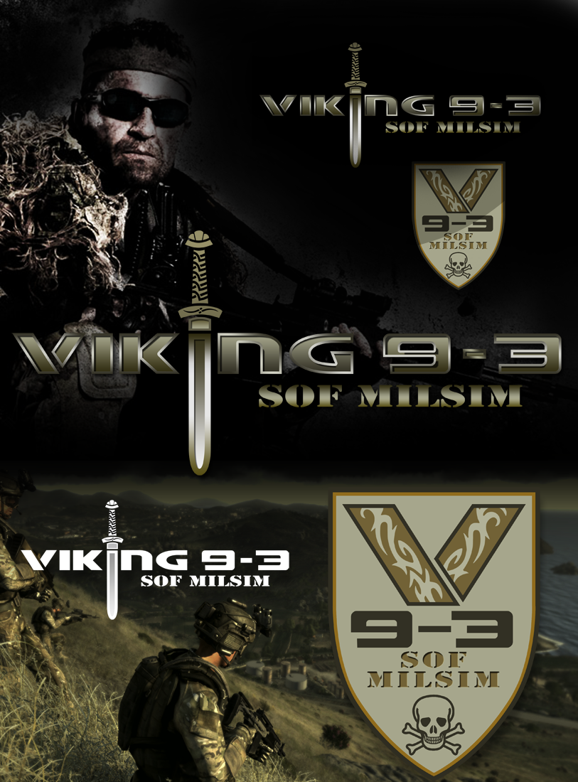 Logo Design by Robert Turla - Entry No. 44 in the Logo Design Contest Logo Design for Viking 9-3 MilSim Unit.