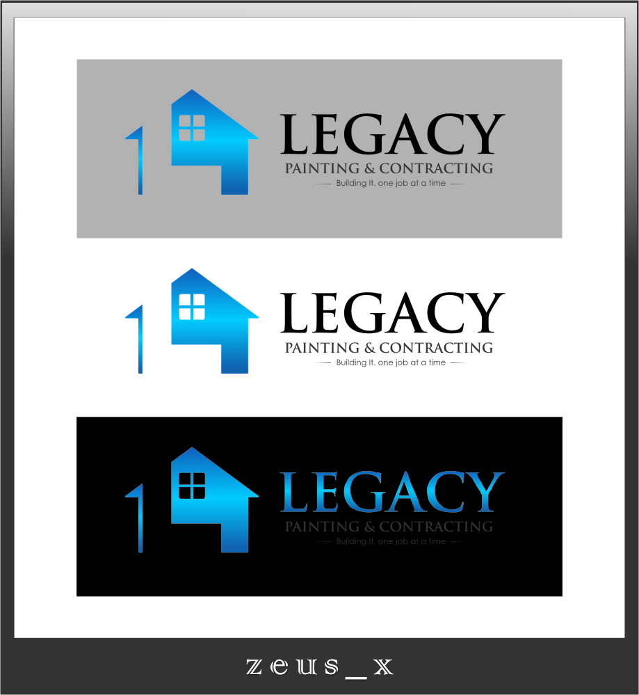 Logo Design by Ngepet_art - Entry No. 57 in the Logo Design Contest Logo Design for Legacy Painting & Contracting LLC.