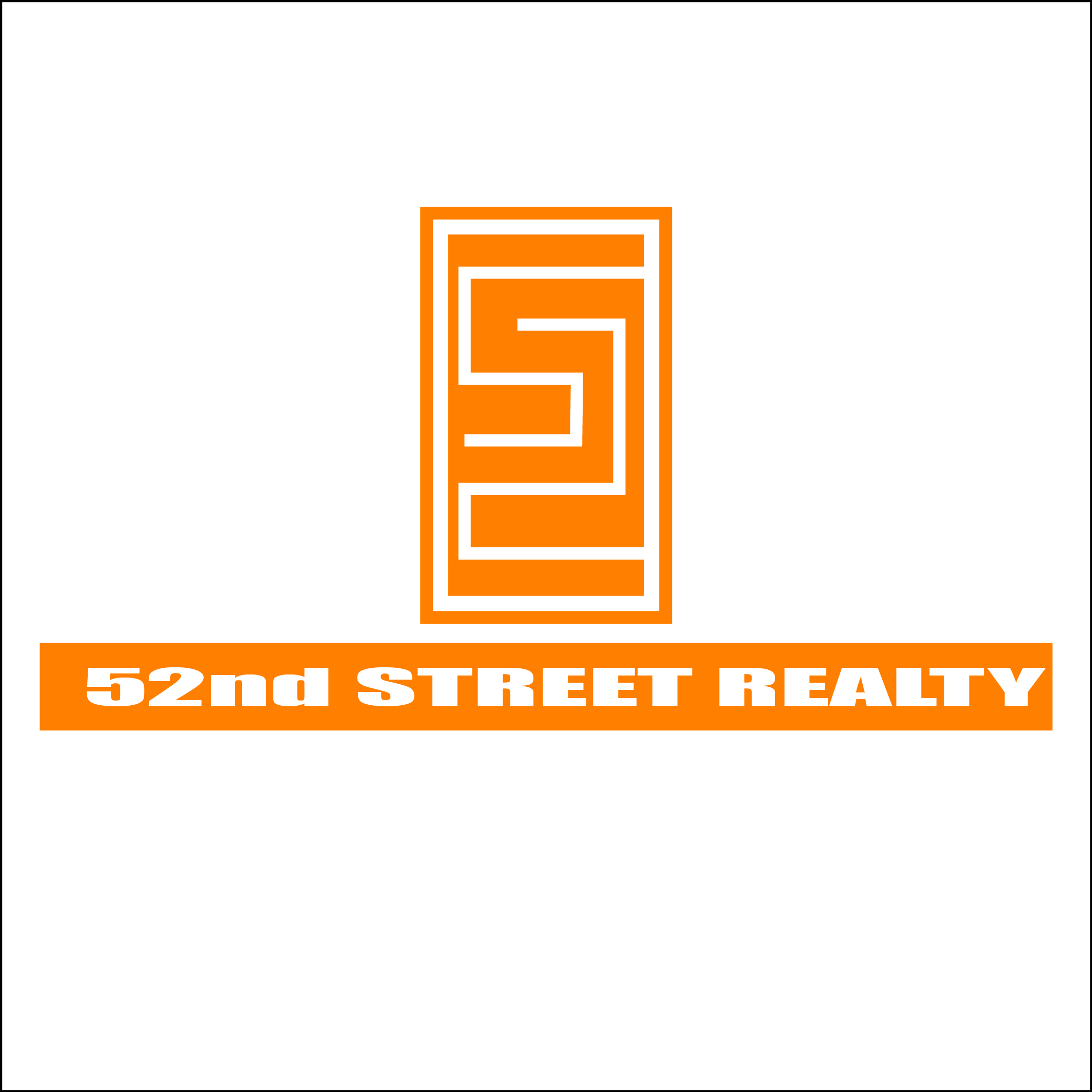 Logo Design by Chandrodayan Mavadian - Entry No. 114 in the Logo Design Contest 52nd Street Realty Logo Design.