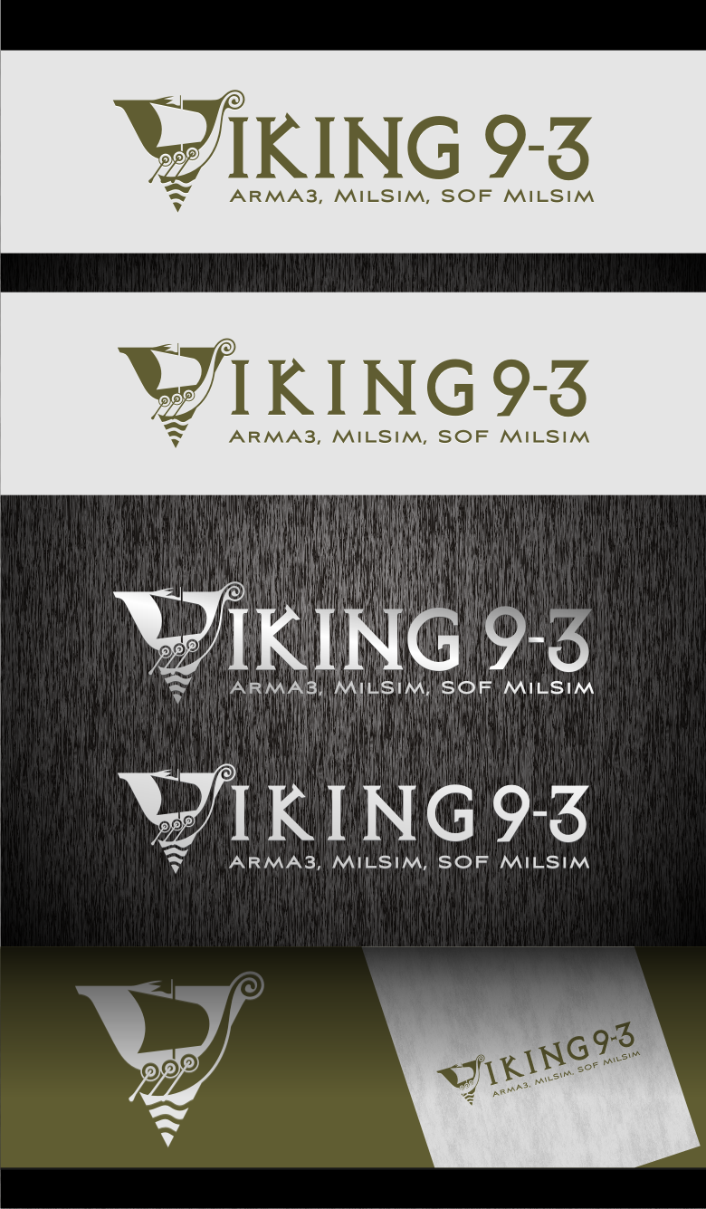 Logo Design by graphicleaf - Entry No. 57 in the Logo Design Contest Logo Design for Viking 9-3 MilSim Unit.