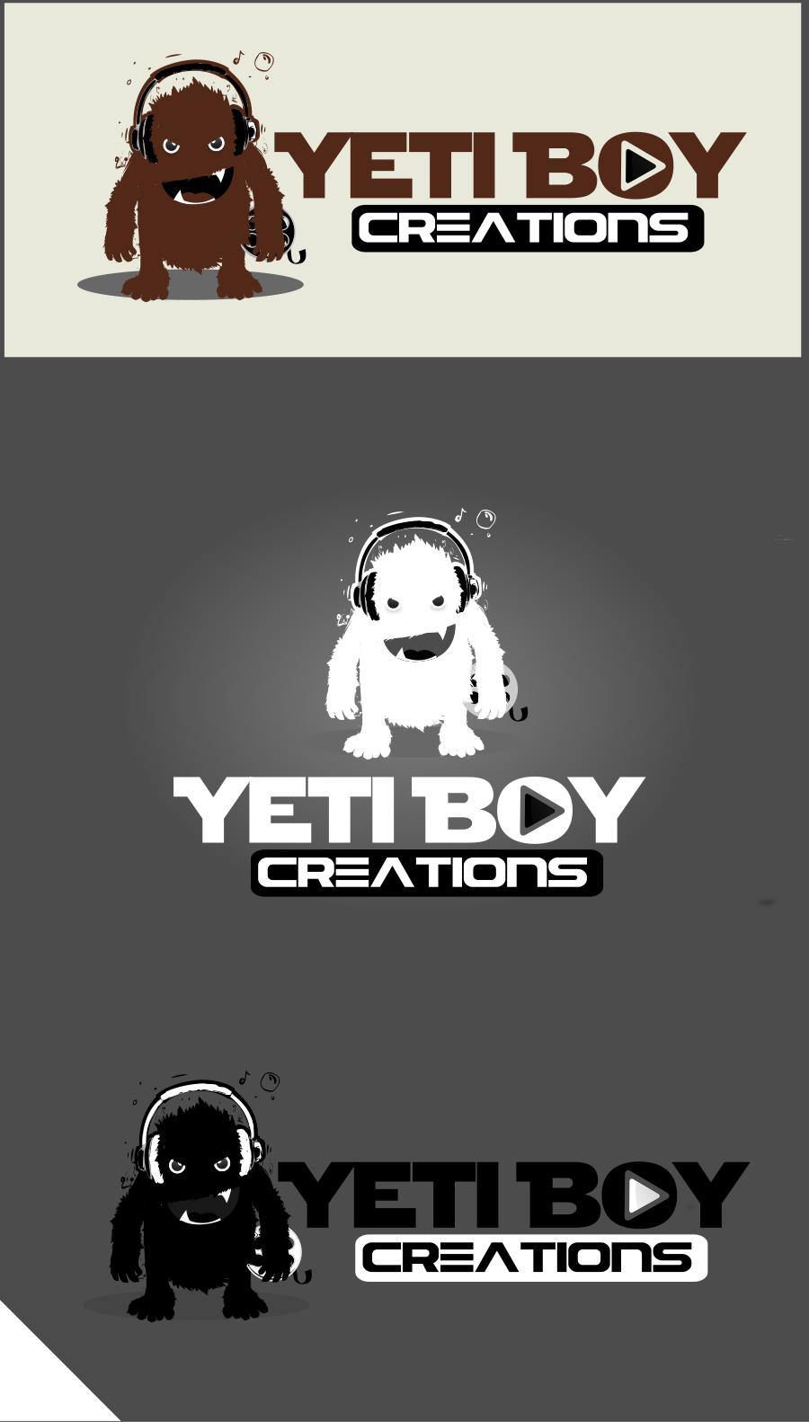 Logo Design by Private User - Entry No. 19 in the Logo Design Contest Captivating Logo Design for Yeti Boy Creations.
