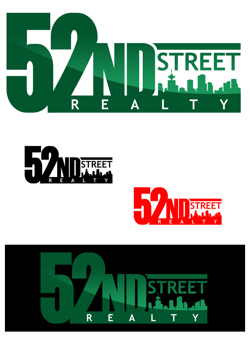 Logo Design by Private User - Entry No. 117 in the Logo Design Contest 52nd Street Realty Logo Design.