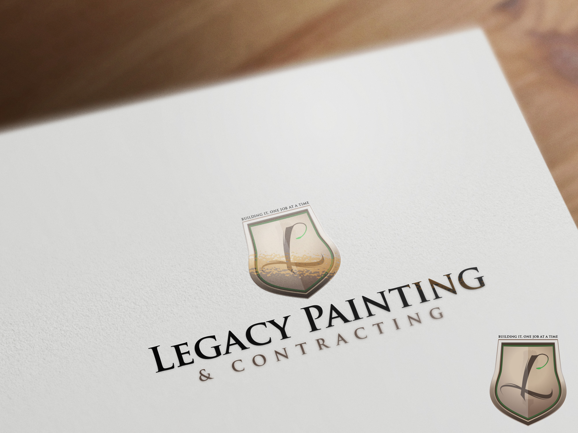 Logo Design by olii - Entry No. 60 in the Logo Design Contest Logo Design for Legacy Painting & Contracting LLC.
