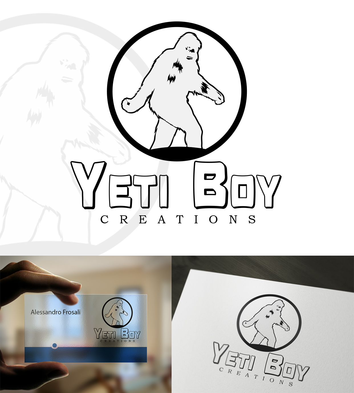 Logo Design by olii - Entry No. 45 in the Logo Design Contest Captivating Logo Design for Yeti Boy Creations.