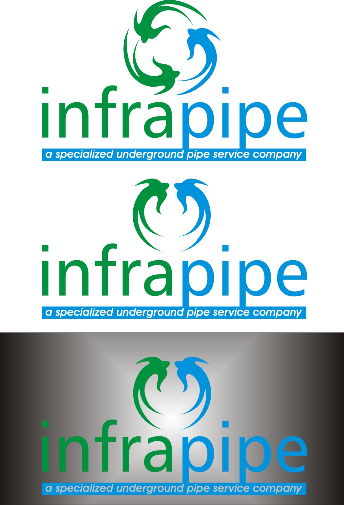 Logo Design by Korsunov Oleg - Entry No. 43 in the Logo Design Contest Inspiring Logo Design for Infrapipe.