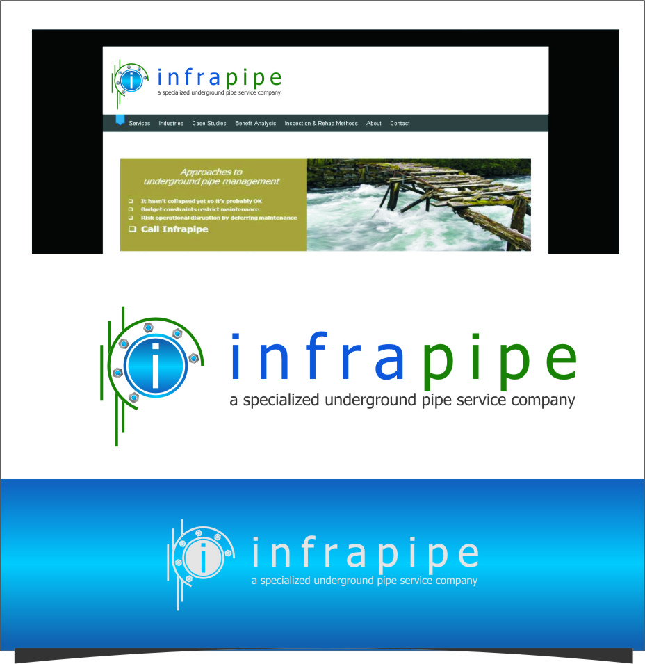 Logo Design by RasYa Muhammad Athaya - Entry No. 67 in the Logo Design Contest Inspiring Logo Design for Infrapipe.