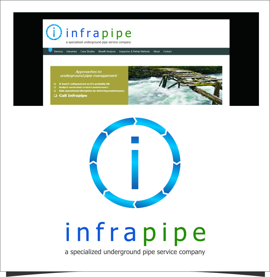 Logo Design by RoSyid Rono-Rene On Java - Entry No. 68 in the Logo Design Contest Inspiring Logo Design for Infrapipe.