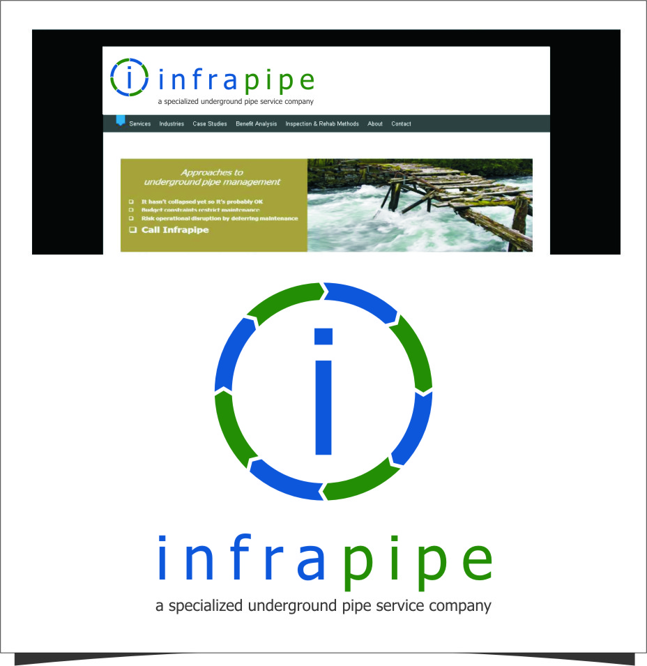 Logo Design by RasYa Muhammad Athaya - Entry No. 69 in the Logo Design Contest Inspiring Logo Design for Infrapipe.