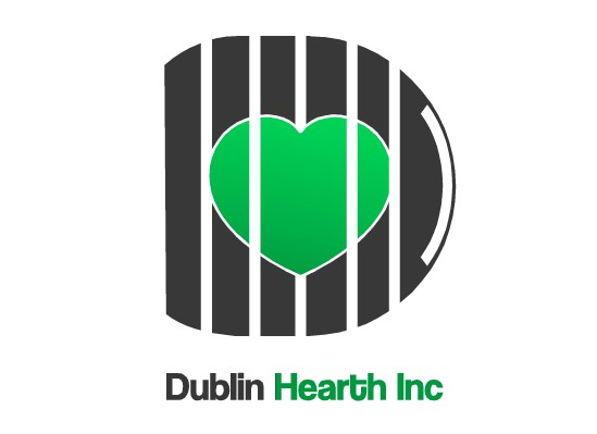 Logo Design by Ismail Adhi Wibowo - Entry No. 1 in the Logo Design Contest clean professional  Logo Design for Dublin Hearth Inc. with a splash of fun with letter head.