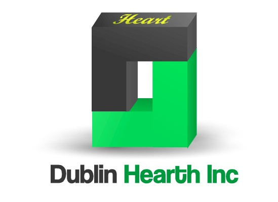 Logo Design by Ismail Adhi Wibowo - Entry No. 4 in the Logo Design Contest clean professional  Logo Design for Dublin Hearth Inc. with a splash of fun with letter head.
