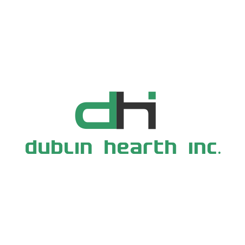 Logo Design by Rudy - Entry No. 6 in the Logo Design Contest clean professional  Logo Design for Dublin Hearth Inc. with a splash of fun with letter head.